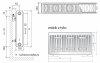 Grzejnik pokojowy Purmo C22 600x1400 panelowy
