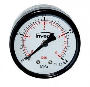 Manometr techniczny tylny 1/4 50mm do 6 bar axial