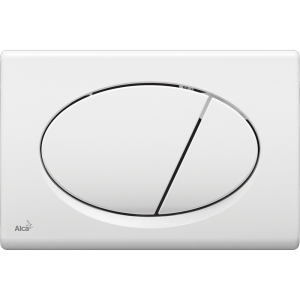 Alcaplast Przycisk spłukujący do stelaża wc biały chrom mat m7x