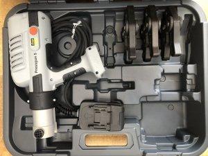 Zaciskarka elektryczna do rur Viega Pressgun 5 + matryce 15-22-28