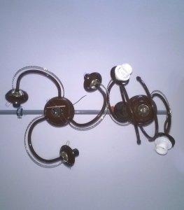 Lampa sufitowa brązowa punktowa