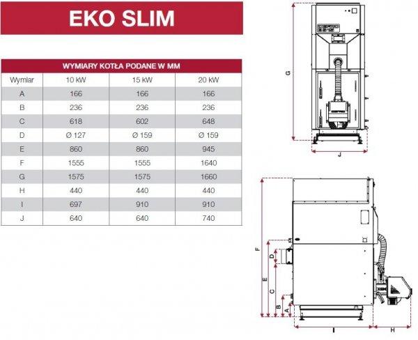 Defro Eko Slim 15 kw Kocioł peletowy 5 klasy