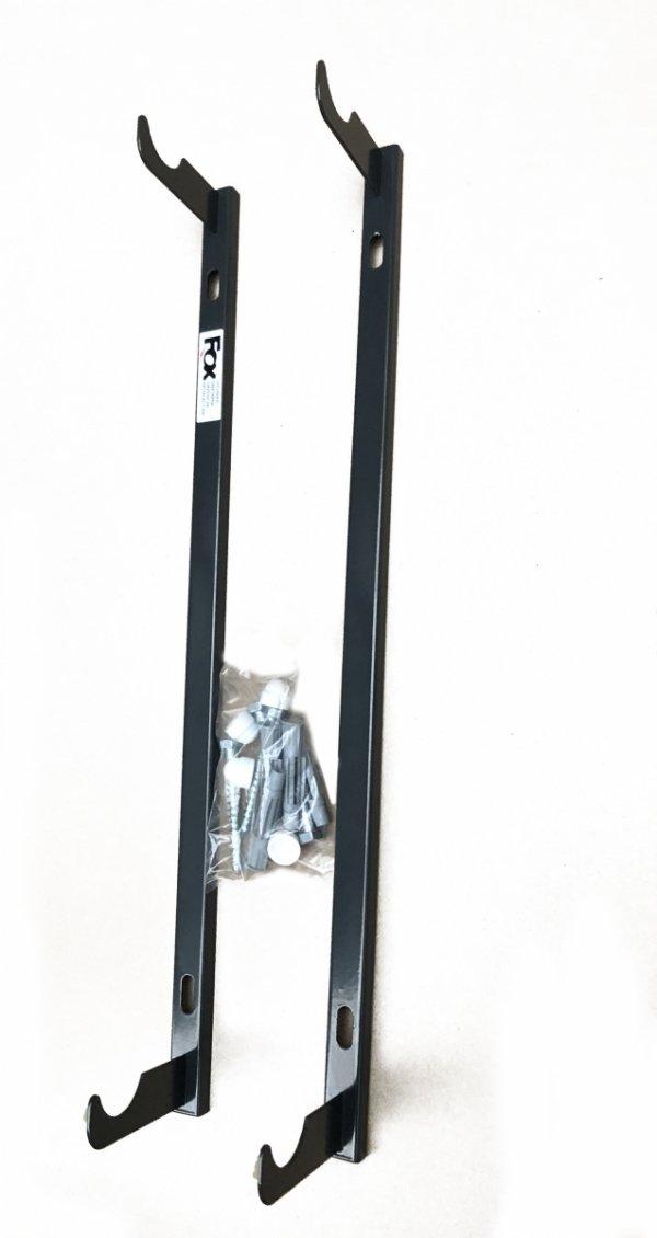 Uchwyt grzejnika aluminiowego grafitowy wieszak listwowy H500