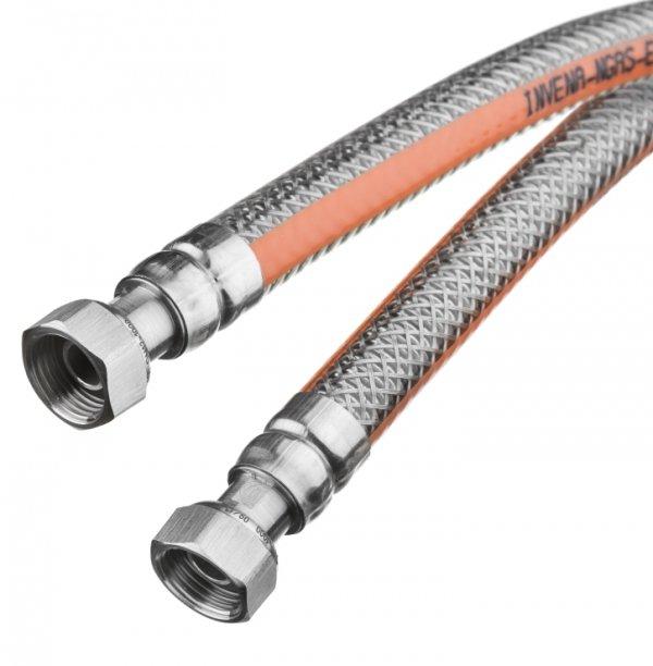 """Wąż do gazu elastyczny 1/2"""" 125 cm"""
