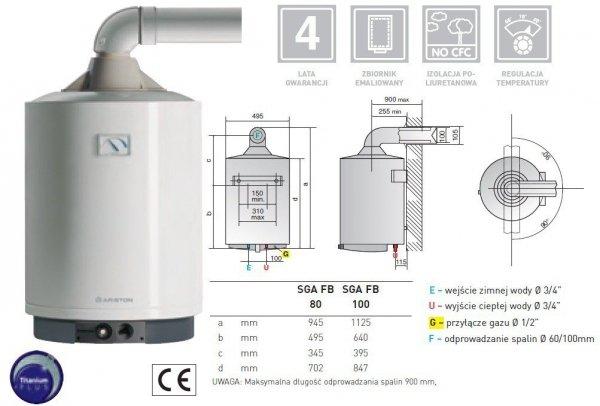 Bojler gazowy Ariston SGA FB 100 l
