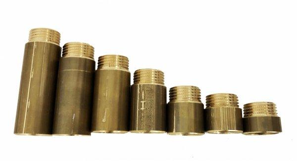 """Przedłużka mosiężna 1/2"""" 50 mm 25 bar wzmocniona"""