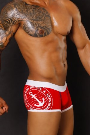 PINK HERO Red Stamp Boxer Briefs