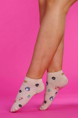 Supa! Sox! Beige Animals ladies socks
