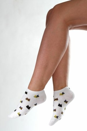Supa! Sox! White Cats ladies socks