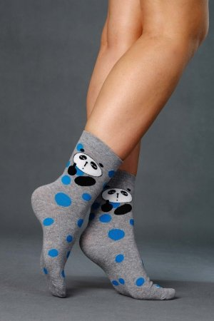 Supa! Sox! Grey Panda ladies socks