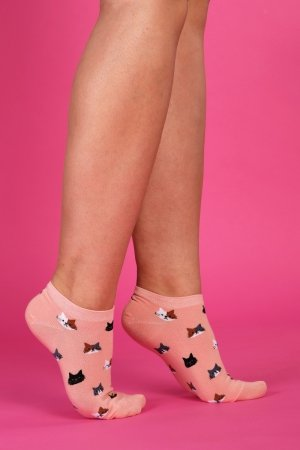 Supa! Sox! Pink Cats ladies socks