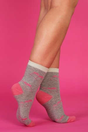 Supa! Sox! Grey Monster ladies socks