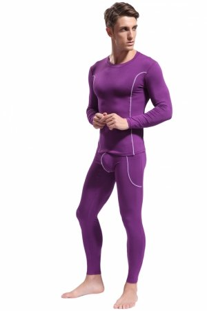 Men`s thermal set WJ Bamboo Purple