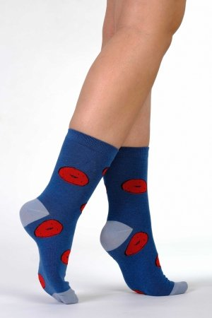 Supa! Sox! Navy Pastries ladies socks