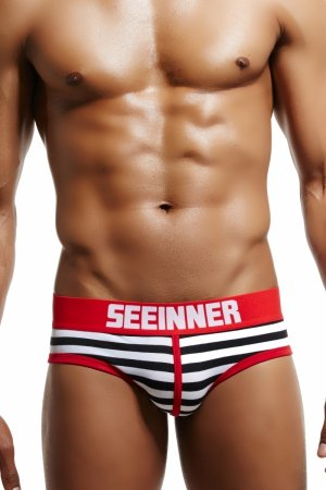 SEEINNER Magic Stripes (Red) Briefs