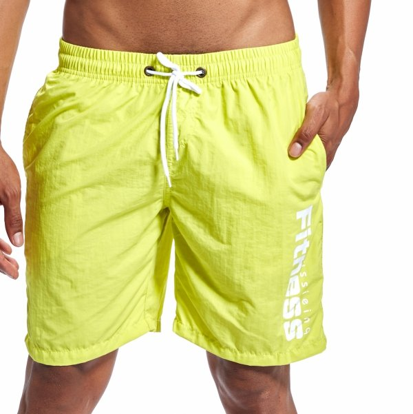 EUSSIEINQ Fitness Green Swimming Trunks