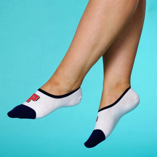 "Supa! Sox! Navy ""P"" ladies socks"