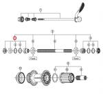 Stożek piasty tył Shimano FH-RM66 lewy