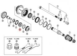 Stożek piasty tył Shimano FH-M800 lewy z kapą i uszczelką (M20)
