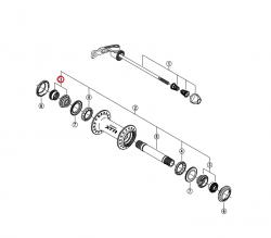 Stożek piasty przód Shimano HB-M970/WH-M975 lewy/prawy