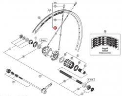 Szprycha Shimano 270mm do WH-MT55-R lewa