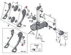 Wózek przerzutki Shimano XTR RD-M9050 SGS zewnętrzny