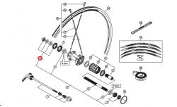 Stożek piasty tył Shimano do koła WH-RS21-CL-R lewy
