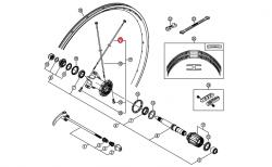 Szprycha Shimano 300mm z podkładką do WH7801-R CARBON lewa