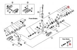 Nakrętka osi hamulca Shimano BR-7800/6600/5600/4500 27mm (imbus)