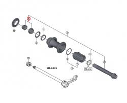 Stożek piasty tył Shimano FH-M9010 lewy