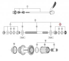 Stożek piasty tył Shimano FH-RM66 prawy