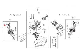 Kapa dźwigni Shimano ST-9000 prawa