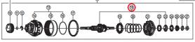Oś piasty + prawy stożek Shimano SG-8C31 (184mm)