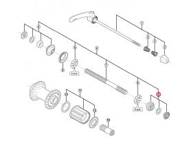Stożek piasty tył Shimano FH-5700 prawy