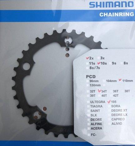 Tarcza mechanizmu korbowego Shimano 105 FC-5750 34T (czarna)