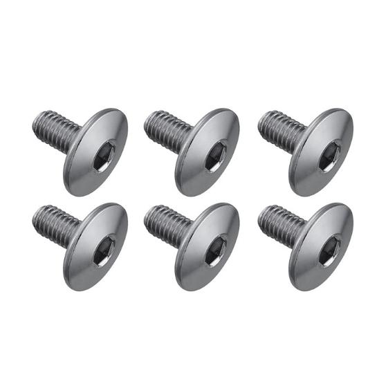 Śruby bloku pedałów Shimano SPD-SL Średnie (M5X10mm) (6szt)