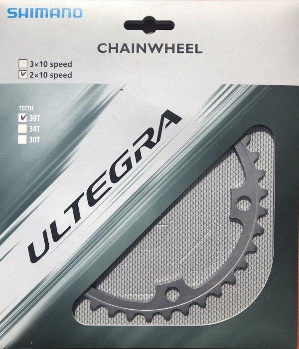 Tarcza mechanizmu korbowego Shimano Ultegra FC-6700 39T (srebrna)