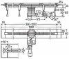 VIEGA - Odpływ liniowy VARIO + ruszt ADVANTIX ( 30-120cm Możliwość regulacji długości )