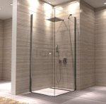 REA - Kabina prysznicowa UP MYSPACE N Ścianka + Drzwi + Profil