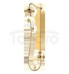 OMNIRES- Zestaw prysznicowy natryskowy Retro złoty/gold AM5244GL ARMANCE