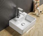 REA- - Umywalka nablatowa ceramiczna biała ECHO