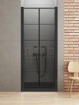 NEW TRENDY - Drzwi wnękowe New Soleo BLACK 100x195   D-0282A szkło satyna