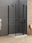 NEW TRENDY Kabina prysznicowa NEW SOLEO BLACK 110x70 K-0685 PL PRODUKCJA