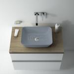 ELITA - Umywalka ceramiczna nablatowa RENI 46 LIGHT GREY MATT 145097