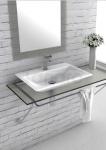 CeraStyle - Umywalka nablatowa / ścienna OLINDA ceramiczna