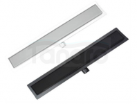 AQUALine Odpływ liniowy podłogowy szklany CZARNY LUB BIAŁY szkło hartowane 60cm C21BK/WT600