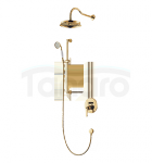 OMNIRES - Zestaw prysznicowy podtynkowy złoty/gold SYSAM20GL ARMANCE