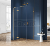 NEW TRENDY - Kabina prysznicowa prostokątna AVEXA GOLD EXK-1740/41 Złote Profile 90x70x200