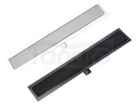 AQUALine Odpływ liniowy podłogowy szklany czarny / szkło hartowane 90cm C21BK/WT900