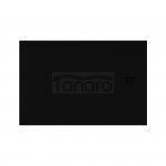 NEW TRENDY - Brodzik Konglomeratowy ze strukturą kamienia naturalnego MORI/czarny 100x80